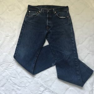 Levi's Blue 501 Button Fly Jeans 32x29